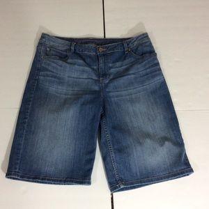 Simply Vera Vera  Wang Denim Bermuda Shorts